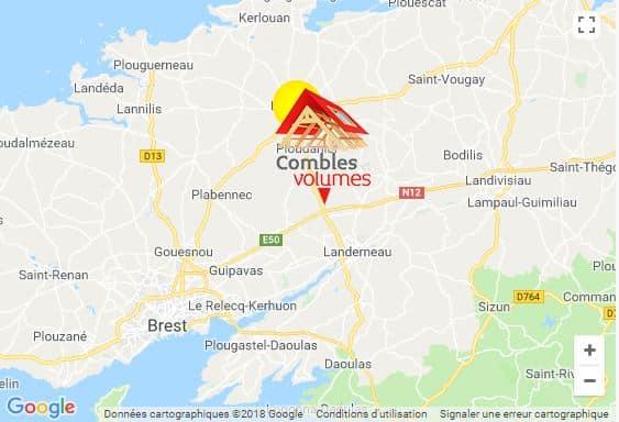 Combles et volumes  map google