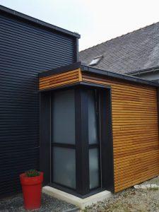 extension de bois moderne pour une maison de landerneau