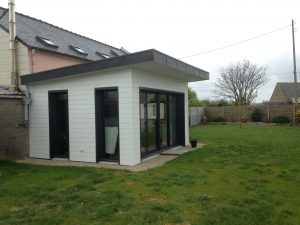 extension moderne d'une maison de pencran