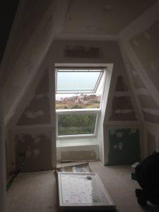 construction d'une fenêtre sous les combles