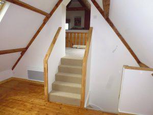 réalisation d'un petit escalier sous les combles pour une maison de guipavas