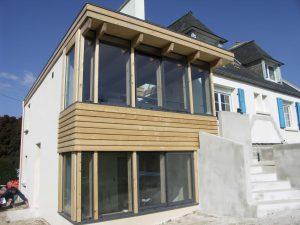 extension sur une vieille maison bretonne de brignogan
