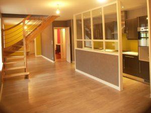 appartement de landerneau, réalisation d'une cuisine