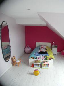 chambres pour enfant sous les combles d'une maison du relec