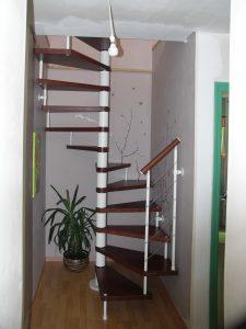 escalier hélicoïdal pour une maison de landerneau