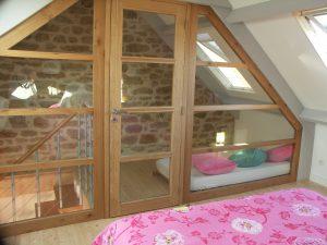 chambre avec cloison vitrée à plouneour